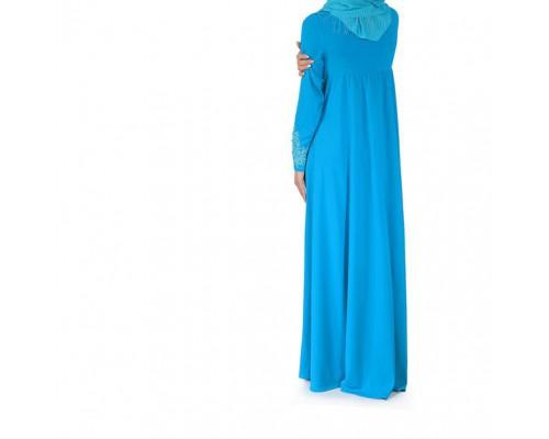 Платье нарядное для никаха с кружевами Ляйсан