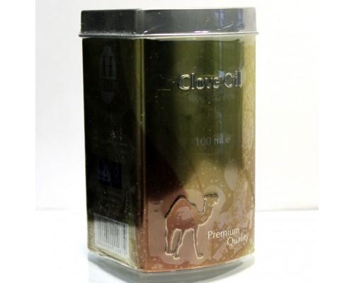 Масло гвоздики 100мл Hemani Clove oil в жестяной банке