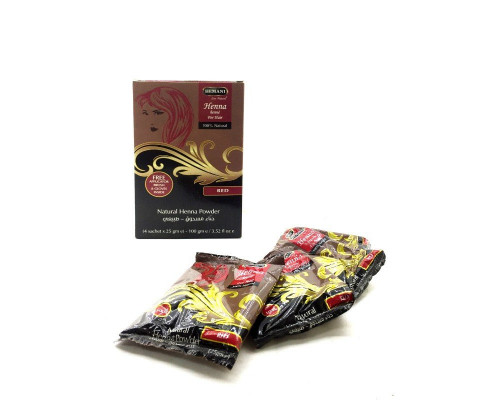 Хна Hemani - Red (красная) (в упаковке 4шт по 25гр) Пакистан