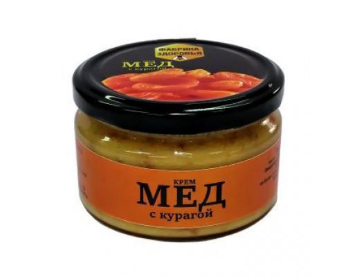 Крем - мед (башкирский) с курагой 300гр