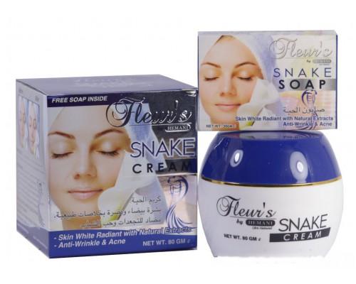 Крем для лица SNAKE от Hemani с жиром кобры + мыло в подарок!