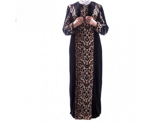 "Платье ""Рузанна"" бархат леопард (осень - зима)"