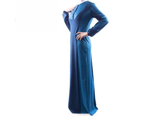 """Платье """"Рузанна"""" синее ( осень - зима)"""