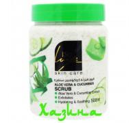 Скраб BioLuxe (aloe vera & cucumber) 500мл