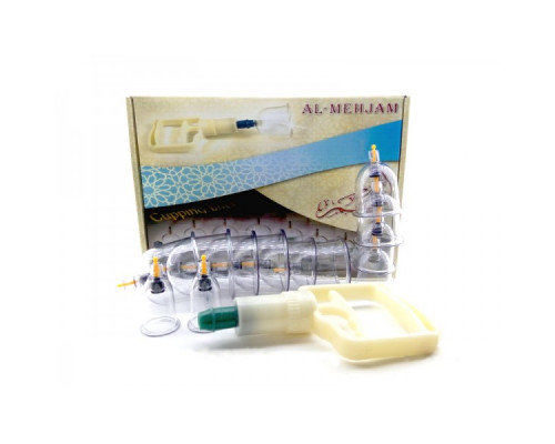Набор вакуумных банок для массажа и хиджамы Al Mehjam 12 банок