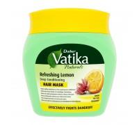 Маска для волос Vatika - Lemon, Tea tree, Rosemary (Лимон, чайное дерево, Розмарин) 500гр