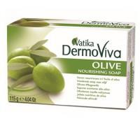 Мыло Vatika DermoViva - Olive (Оливка, питательное) 115гр