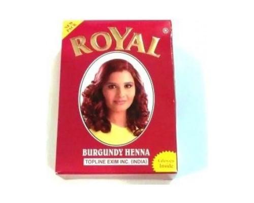 Хна Royal - Burgundy (Бургунди) (в упаковке 7шт по 10гр) Индия