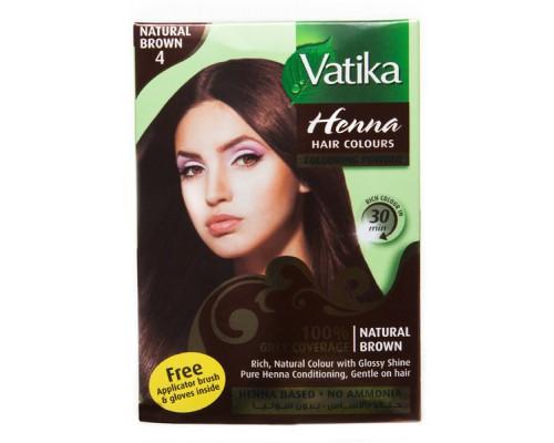Хна Vatika - Natural Brown (Коричневый) (6шт х 10гр)