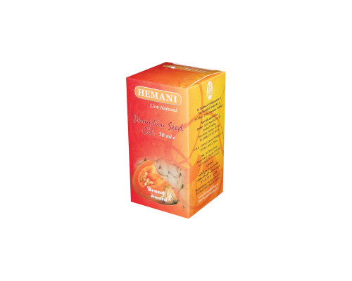 Масло тыквы - Pumpkin seed oil (Hemani) 30мл