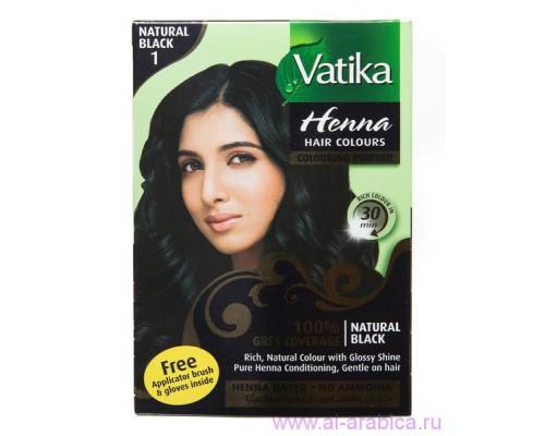 Хна Vatika - Natural BLACK (Черный) (6шт х 10гр)
